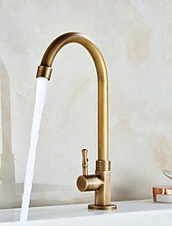 cheap -Single Handle Kitchen Faucet Golden Electroplated Standard Spout Brass Kitchen Faucet Contain with Cold Water Only