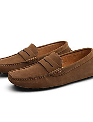 cheap -Men's Loafers & Slip-Ons Suede Shoes Driving Shoes Light Soles Casual Outdoor Office & Career Walking Shoes Suede Non-slipping Wine Light Brown Black Spring Summer