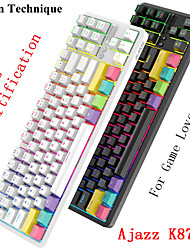 cheap -AJAZZ K870T Wireless Bluetooth USB Wired Dual Mode Mechanical Keyboard Novelty Luminous Programmable RGB Backlit 87 pcs Keys