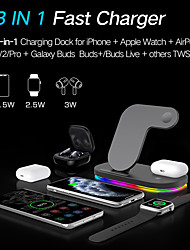 cheap -Z7s Two Wireless Charge Output Wireless Charger with LED Lights 15W Fast Charging Charger for iPhone 12 11 Pro Max Air Pods Samsung S21 S20 S10 Huawei Oneplus Xiaomi Wireless Charge