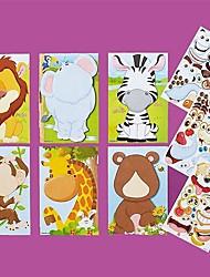 cheap -kids puzzle make-a-face princess animal dinosaur sticker collect