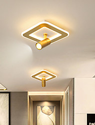 cheap -25 cm Geometric Shapes Flush Mount Lights Metal Acrylic Artistic Style Geometrical Painted Finishes LED Modern 110-120V 220-240V