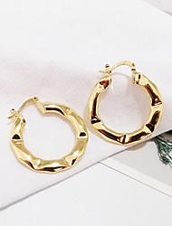 cheap -14k gold hoop clip earrings for women, unique design chunky earrings no piercing fake earrings for teen girls gift hypoallergenic, clip on