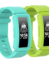 cheap -2 pack Smart Watch Band Compatible with fitbit ace 2 bands for kids, boys girls soft silicone bracelet accessories sports watch straps wristbands replacement watch band for fitbit ace2