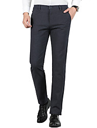 cheap -Men's Suits Notch Standard Fit Single Breasted One-button Solid Colored Spandex Polyester