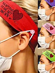 cheap -3 pcs Creative New Stretch Milk Silk Nurse Belt Button Headband Hair Band Washing Face Sports Headband Hair Accessories