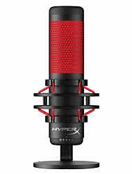cheap -HyperX QuadCast - USB Condenser Gaming Microphone for PC PS4 and Mac Anti-Vibration Shock Mount Four Polar Patterns Pop Filter Gain Control Podcasts Twitch YouTube Discord Red LED