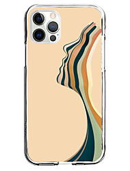 cheap -Creative Stripes Case For Apple iPhone 12 iPhone 11 iPhone 12 Pro Max Unique Design Protective Case Pattern Back Cover TPU