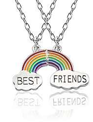 cheap -Women's Pendant Necklace Necklace Rainbow Cute Alloy Rainbow 45+5 cm Necklace Jewelry 1pc For Gift Birthday Party