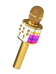 cheap -Microphone for Kids Wireless Bluetooth Karaoke Microphone  With LED Light Portable Handheld Mic Speaker Machine Great Gifts Toys for Girls Boys Adults All Age