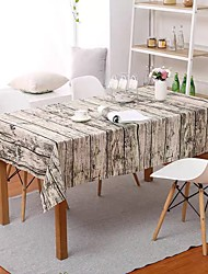 cheap -Table Cloth Linens Dust-Proof Country Striped Tabel cover Table decorations for Daily Wear rectangule 40*60 cm White 1 pcs