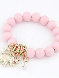 cheap -Women's Bead Bracelet Beads Elephant Sweet Resin Bracelet Jewelry White / Black / Blue For Date Festival