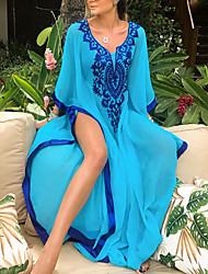 cheap -Women's Tankini Cover Up Swimsuit Chiffon Lace White Blue Swimwear Bathing Suits