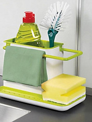 cheap -Kitchen Box Draining Rack Dish Self Draining Sink Storage Rack Kitchen Organizer Stands Utensils Towel Bar Towel Rack
