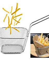 cheap -Fries Fry Basket Mini Stainless Steel Home Kitchen Cooking Hand Tool Accessories