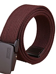 cheap -Men's Military Tactical Belt Breathable Wearable Quick Release for Solid Colored Canvas Fall Spring Summer