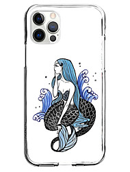cheap -Mermaid Scales Case For Apple iPhone 12 iPhone 11 iPhone 12 Pro Max Unique Design Protective Case Pattern Back Cover TPU