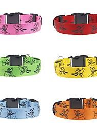 cheap -Cat Dog Collar Light Up Collar Reflective LED Lights Adjustable / Retractable Strobe / Flashing Safety Fabric Plastic Nylon Yellow Red Blue Pink Orange