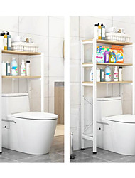 cheap -Toilet Shelf Floor Storage Rack Storage Cabinet above Toilet Household Steel/PB Board