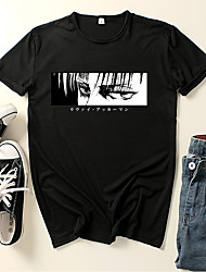 cheap -Inspired by Attack on Titan Cosplay Cosplay Costume T-shirt Microfiber Graphic Prints Printing T-shirt For Women's / Men's