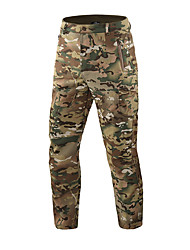 cheap -Men's Camouflage Hunting Pants Tactical Cargo Pants Thermal Warm Waterproof Windproof Breathable Winter Autumn Fleece Bottoms for Camping / Hiking Hunting Combat CP camouflage ACU camouflage Sand