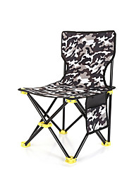 cheap -Camping Chair with Side Pocket Portable Ultra Light (UL) Multifunctional Foldable Oxford for 1 person Fishing Beach Camping Autumn / Fall Winter White Black Red Army Green / Breathable / Comfortable