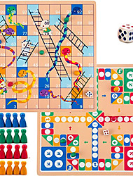 cheap -2 in 1 Snakes and Ladders Classic Family Travel Games Light-Weight Reversible Board Dice Games Set Toy with Multicolored Playing Pieces for Boys Girls Kids Birthday Gift
