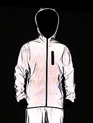 cheap -WOSAWE Men's Cycling Jacket Bike Tracksuit Windbreaker Jersey Waterproof Windproof Sports Solid Color Silver Clothing Apparel Loose Bike Wear Waterproof / Long Sleeve
