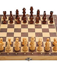 cheap -15 Inch Wooden Chess Set with Felted Game Board Interior for Storage Magnetic Folding Portable Compact Travel Chess Board Handcrafted Set Storage Slots Gift Box for Kids Adults Beginners Set