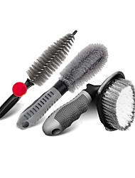 cheap -Car Tire Brush Wheel Hub Brush Car Wash Tool Cleaning Wheel  Rim Brush Powerful Decontamination Brush Set