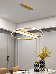 cheap -60 cm Nordic LED Pendant Light Modern Gold Includes Dimmable Verison Metal Artistic Style Modern Style Stylish Painted Finishes Artistic LED 220-240V