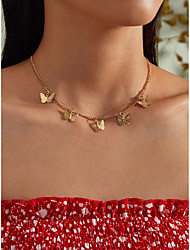 cheap -Women's Necklace Charm Necklace Butterfly Simple Fashion Cute Sweet Alloy Gold 40 cm Necklace Jewelry 1pc For