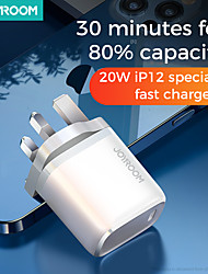cheap -Joyroom NRT-DY139E 20W PD Charger Smart Type C Fast Charger For IPhone 12 Pro Max Type C Charger Support QC3.0 Samsung Huawei Super Fast Charge
