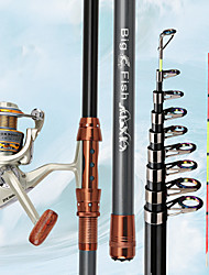 cheap -Fishing Rod and Reel Combo Telescopic Rod 180/210/240/270/300/330/360 cm Carbon Portable Lightweight Sea Fishing