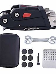 cheap -namucuo bike repair tool kit - bicycle repair tool kit set with multi-function bike tool, bike chain tool, bone wrench, tire tool bike portable tool bag. 6 month warranty