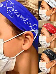 cheap -2 pcs Creative New European And American Stretch Milk Silk Anti-leakage Stethoscope Pattern Wide Brim Headband Nurse Headband