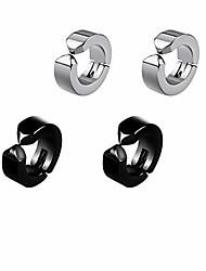 cheap -Non Pierced Hoop Earrings for Men , Stainless Steel Womens Mens Clip On Earrings, 9MM No Piercing Huggie Hoop Earrings Studs Birthday Christmas Gifts for Women Men Black Silver