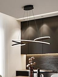 cheap -80 cm LED Ceiling Light Black White Dimmable Single Design Chandelier Aluminum Artistic Style Stylish Painted Finishes Artistic LED 110-120V 220-240V