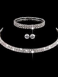 cheap -Women's Jewelry Set Elegant Classic Rhinestone Earrings Jewelry Silver For Wedding Anniversary Party Evening 1 set