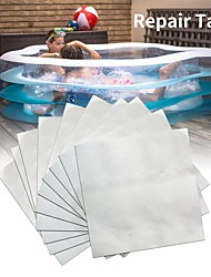 cheap -10pcs Swimming Float Repair Kit PVC Puncture Patch Glue Adhesive For Inflatable Toy Pools Air Bed Dinghies