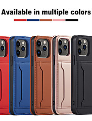 cheap -Multi-function Leather Case For Apple iPhone 12 11 SE2020 Shockproof Full Body Protective Case TPU Cover for iPhone 12 Pro Max XR XS Max iPhone 8 7