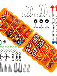 cheap -226 pcs Fishing Hooks Fishing Snaps & Swivels Fishing Beads Fishing Line Sinker Slides Plastic Metal Easy to Carry Easy to Use Sea Fishing Other