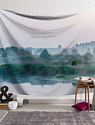 cheap -Wall Tapestry Art Decor Blanket Curtain Hanging Home Bedroom Living Room Decoration Polyester River Mist Tree