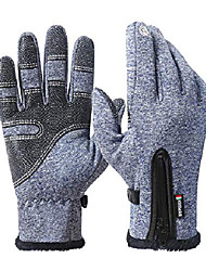 cheap -winter gloves for men women touch screen gloves windproof cold weather warm gloves for cycling running driving outdoor recreation (blue, xxl)