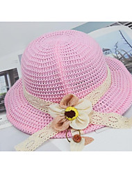 cheap -1pcs Kids / Toddler Unisex Sweet Birthday / Casual / Daily Wear Sun Flower Floral Stylish Polyester Hats & Caps Red / Yellow / Blushing Pink S
