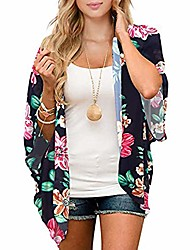 cheap -womens swimsuit cover ups kimono cardigans beach bathing suit summer bikini swimsuits cover up for women pink green floral 2xl