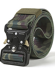 cheap -Belt Men's Military Tactical Belt Breathable Wearable Protective for Solid Colored Camo Nylon Fall Spring Summer