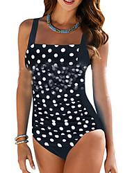cheap -Women's One Piece Swimsuit Light Blue Blue Black Dark Gray Plus Size Swimwear Bathing Suits