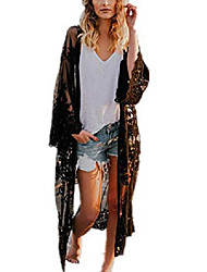 cheap -women's bathing suit kimono beach cover up lace crochet pool swimwear