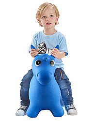 cheap -Bouncy Horse Hopper- Blue Inflatable Jumping Horse, Ride on Rubber Bouncing Animal Toys for Kids/ Toddlers/ Children/ Boys/ Girls